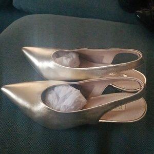 Topshop leather sling back shoes